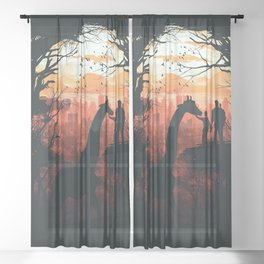 The Last of Us Sheer Curtain