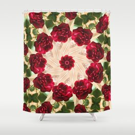 Old Red Rose Kaleidoscope 13 Shower Curtain