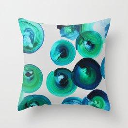 Ocean swirls Throw Pillow