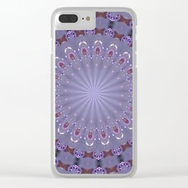 PURPLE BUTTERFLIES AND BEADS Clear iPhone Case