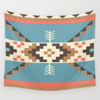 aztec Wall Tapestries featuring AZTEC by 6ense