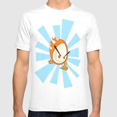 EggFury White SMALL Mens Fitted Tee