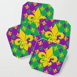 Mardi Gras Fleur-de-Lis Pattern Coaster