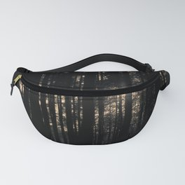 Sun between trees Fanny Pack
