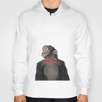monkey Hoodies featuring Monkey by Made By Mary