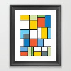 The Colors of / Mondrian Series - Simpsons Framed Art Print