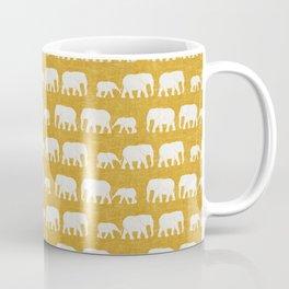 elephant march - gold Coffee Mug