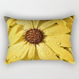 Yellow Petals Flower Rectangular Pillow