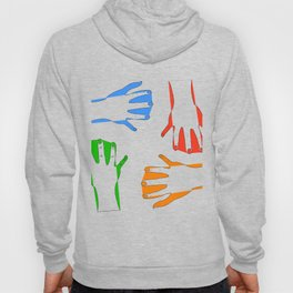 colors on my hand Hoody