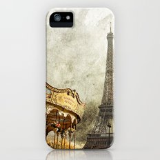 The Carousel and the Eiffel Tower - Paris iPhone (5, 5s) Slim Case