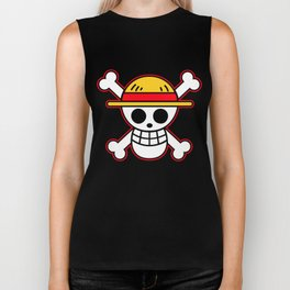 Straw hat Flag Biker Tank
