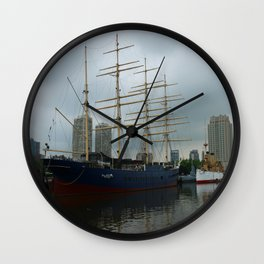Moshulu And USS Olympia Wall Clock