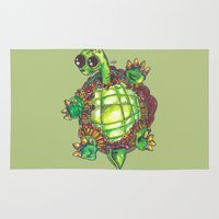 turtle Area & Throw Rugs featuring Turtle by Aubree Eisenwinter