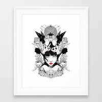 witchcraft Framed Art Prints featuring Witchcraft by Sergio Saucedo