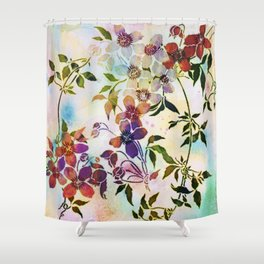garland of flowers Shower Curtain