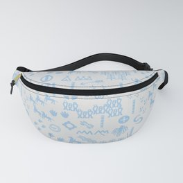 Peoples Story - Blue on Grey Fanny Pack