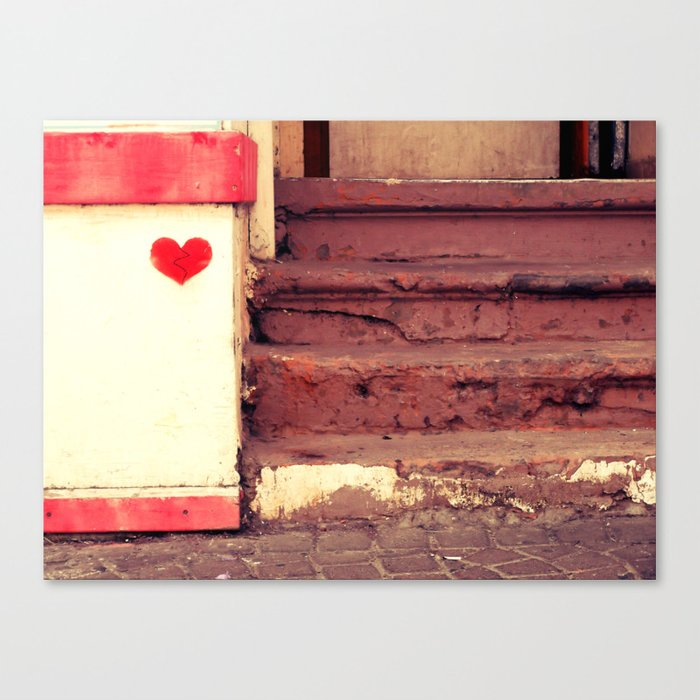 Broken heart Canvas Print