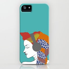 Washi Headphones iPhone Case