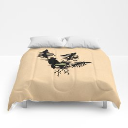 Kentucky - State Papercut Print Comforters