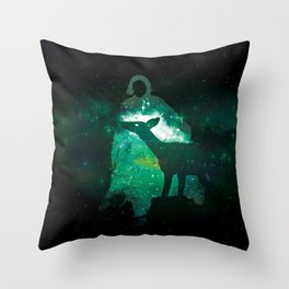 Snape and the Doe Throw Pillow