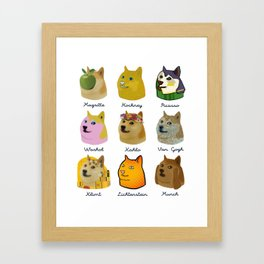 A Brief History of Doge Artists Framed Art Print