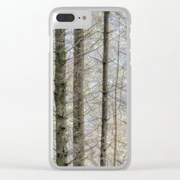 Wintry forest Clear iPhone Case