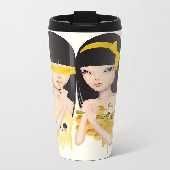 honey bee Metal Travel Mug