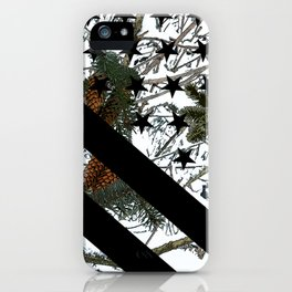 Hunting Snow Camouflage Flag 1 iPhone Case