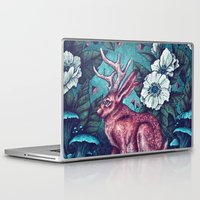 jack nicholson Laptop & iPad Skins featuring Jack by Angela Rizza