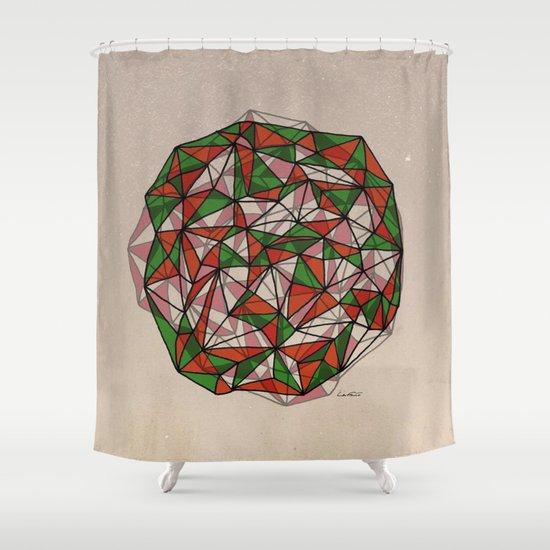- red orange green - Shower Curtain