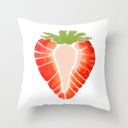 Strawberry Secret Throw Pillow