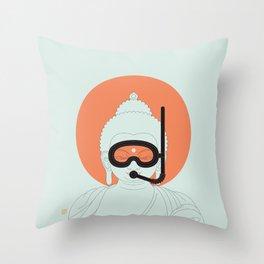 Buddha : Take A Deep Breath! Throw Pillow