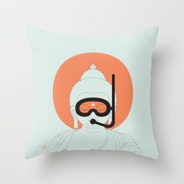 Buddha : Take A Deep Breath! Throw Pillow