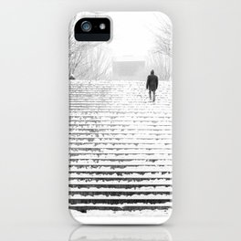 Man in Snow iPhone Case