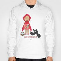 red riding hood Hoodies featuring Little Red Riding hood by MyimagesArt