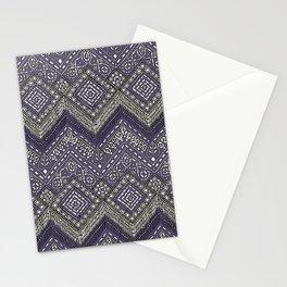 beaded chevron plum Stationery Cards