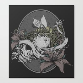 Skull Bee  Canvas Print