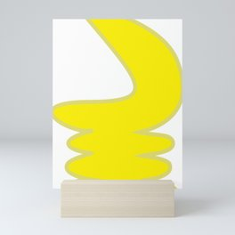 War Horn in Yellow Mini Art Print