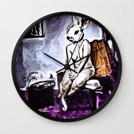 """Demuring Lagomorpha"" By Nacho Dung. Wall Clock"