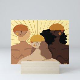Kissed by the sun Mini Art Print