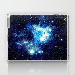 Galaxy NEbula. Teal Turquoise Blue Aqua Laptop & iPad Skin