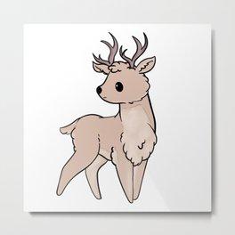 Cute Deer cartoon Metal Print