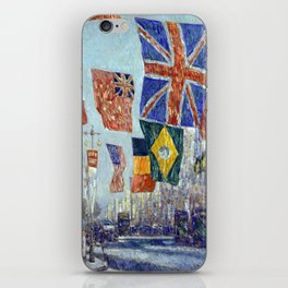 Childe Hassam Avenue of the Allies, Great Britain iPhone Skin