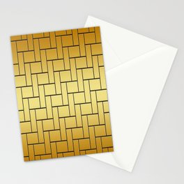 Graphic Design Gold Stationery Cards