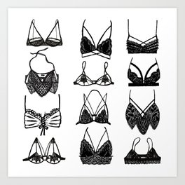 Lace lingerie design Art Print