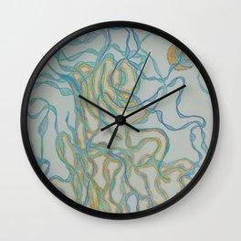 Shine of Golden Waves Wall Clock