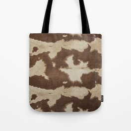 Brown and white cowhide 3 Tote Bag