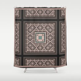National classic abstract pattern retro print Shower Curtain