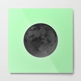BLACK MOON + LIME GREEN SKY Metal Print