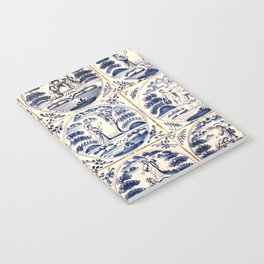 Dutch Delft Blue Tiles Notebook
